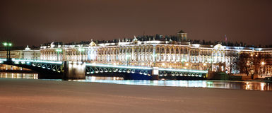 Panorama Of Saint-Petersburg In The Nighttime Stock Photography