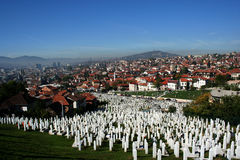 Panorama Of Sarajevo Royalty Free Stock Photo