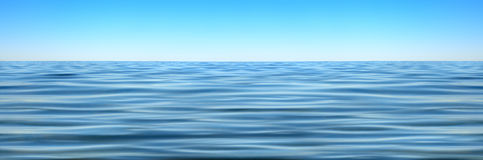 Panorama Of Sea Waves Against The Blue Sky Royalty Free Stock Photo