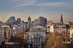 Panorama Of The Center Of Poznań With The Towers Of The Royal Castle Royalty Free Stock Image