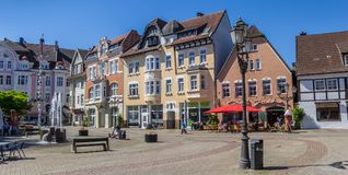 Free Panorama Of The Historic Goose Market Square In Herford Royalty Free Stock Image - 117649286