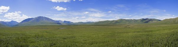 Free Panorama Of The Oroi Pass. Altai, Russia. Royalty Free Stock Images - 129218719