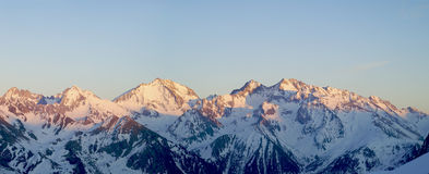 Panorama Of The Pyrenees Stock Images