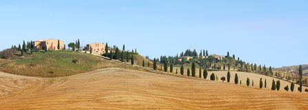 Panorama Of Tuscan Landscape Stock Images