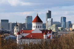 Panorama Of Vilnius Stock Images