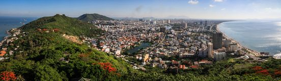 Free Panorama Of Vung Tau From The Christ Of Vung Tau, Stock Images - 124094584