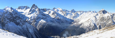 Free Panorama Of Winter Mountains Stock Photography - 36473602