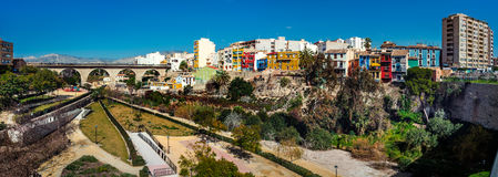 Panorama off Villajoyosa town, Costa Blanca. Spain Royalty Free Stock Images