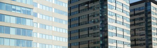 Panorama of office buildings Royalty Free Stock Images