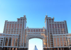 Panorama of office buildings in the center of Astana. Kazakhstan Stock Photos