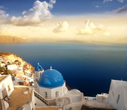 Panorama from Oia Stock Image
