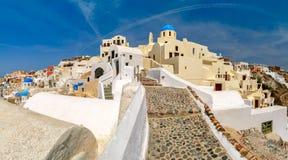 Panorama of Oia or Ia, Santorini, Greece Royalty Free Stock Image