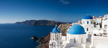 Panorama of Oia. Santorini, Cyclades, Greece Royalty Free Stock Photography
