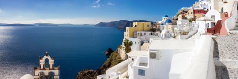 Panorama of Oia. Santorini, Cyclades, Greece Royalty Free Stock Image