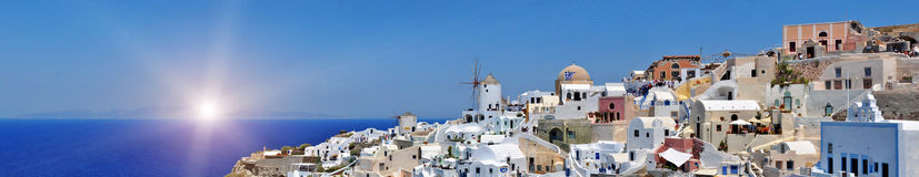 Panorama of Oia. Santorini Stock Photo