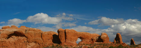 panorama okna arch Obraz Royalty Free