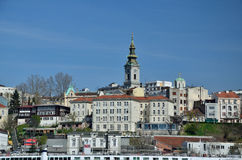 Panorama of old Belgrade Royalty Free Stock Images