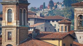 Panorama of old Bergamo, Italy. Bergamo, also called La Citt dei Mille, The City of the Thousand , is a city in Lombardy, northern Stock Image