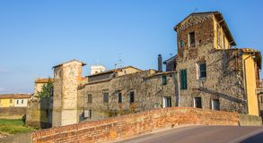 Panorama of old buildings in Campi Bisenzio in Tuscany. Italy Stock Images