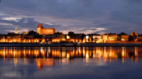 Panorama of old city. Torun Royalty Free Stock Photography