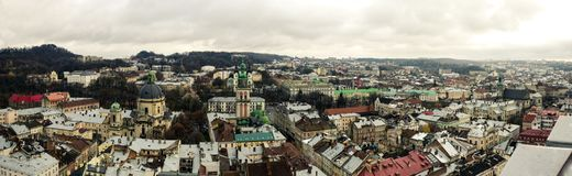 Panorama of the old city from above Royalty Free Stock Photo