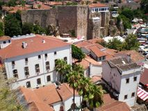 Panorama of the old city of Antalya. Turkey stock photography