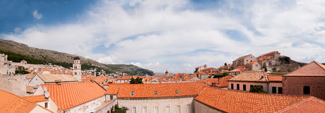 Panorama of the old city of Dubrovnik, Croatia Royalty Free Stock Photography