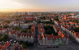 Panorama of the old city in Gdansk Poland Royalty Free Stock Photos