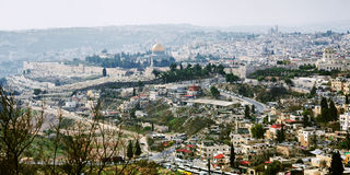 Panorama of the Old City of Jerusalem Royalty Free Stock Photos