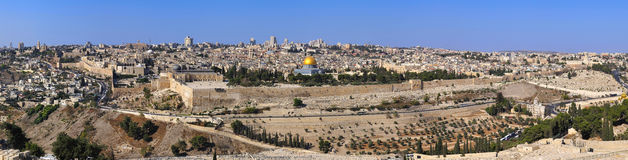 Panorama the old city Jerusalem Stock Photography