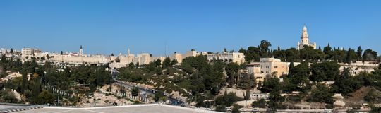 Panorama of the Old City of Jerusalem Royalty Free Stock Photography