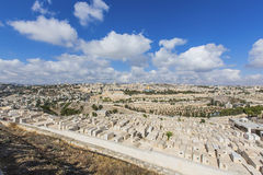Panorama of the old city of Jerusalem Royalty Free Stock Images