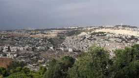 Panorama the old city Jerusalem stock video footage