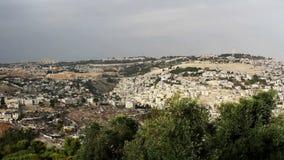 Panorama the old city Jerusalem stock footage