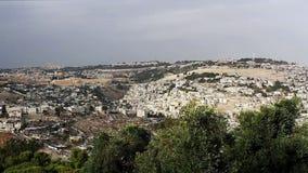 Panorama the old city Jerusalem stock video