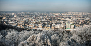 Panorama of the old city Lvov Royalty Free Stock Image
