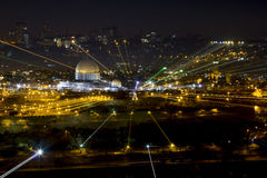 Panorama of the old city from the Mount of olives, Jerusalem Isr Royalty Free Stock Photos