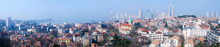 Panorama of  Old City in qingdao Stock Photography