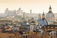 Panorama of the old city of Rome Stock Photo