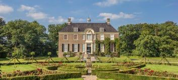 Panorama of old dutch mansion Huis Den Berg in Dalfsen Royalty Free Stock Photo