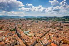 Panorama of old Florence and the church Saint Mary of the Flower stock image