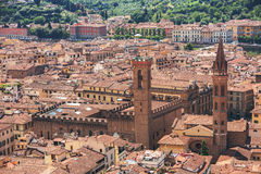 Panorama of old Florence and the church Saint Mary of the Flower Royalty Free Stock Image