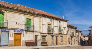 Panorama of old houses in the center of Atienza Royalty Free Stock Photography