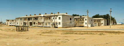 Panorama of old houses. Royalty Free Stock Images