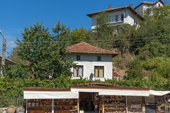 Panorama with Old houses in town of Melnik, Blagoevgrad region, Bulgaria Stock Photography