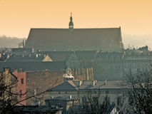 Panorama of Old Krakow stock photo