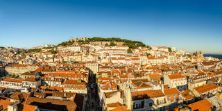 Panorama of Old Lisbon Royalty Free Stock Photography