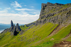 Panorama of the Old Man of Storr Royalty Free Stock Photography