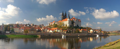 Panorama of old Meissen Stock Photo