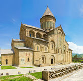 Panorama of old Orthodox cathedral church stock image